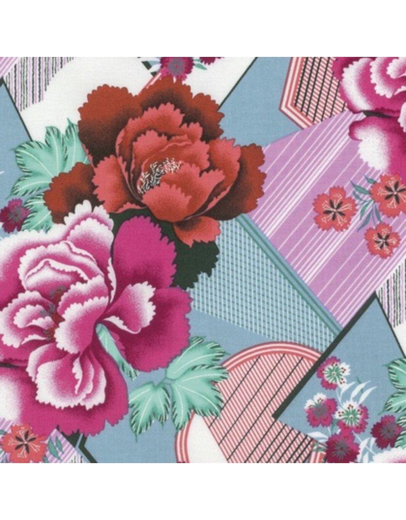 Amy Butler Splendor, Double Fault Floral in Cherry, Fabric Half-Yards