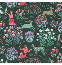 Amy Butler Splendor, Forest Friends in Dusk, Fabric Half-Yards