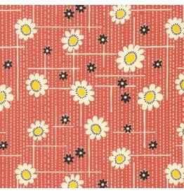 Denyse Schmidt Winter Walk, Hatchline Floral in Bark, Fabric Half-Yards