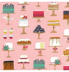 Patty Sloniger Bake Shop, Sweet Cakes in Confection, Fabric Half-Yards