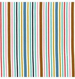 Patty Sloniger Bake Shop, Awning Stripes in Cupcake, Fabric Half-Yards