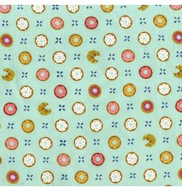 Patty Sloniger Bake Shop, Tic Tac Donuts in Pistachio, Fabric Half-Yards