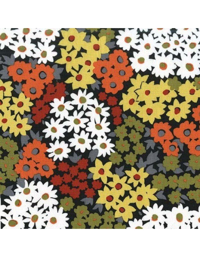 Michael Miller Sandpipers, Chamomile Lawn in Sunset, Fabric Half-Yards