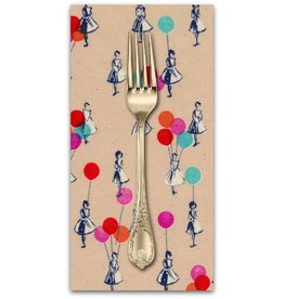 PD's Melody Miller Collection Jubilee, Balloons in Peach, Dinner Napkin