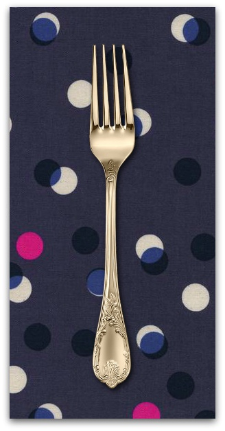 PD's Melody Miller Collection Jubilee, Party Lights in Blue, Dinner Napkin
