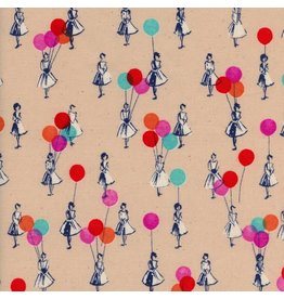 Melody Miller Jubilee, Balloons in Peach, Fabric Half-Yards