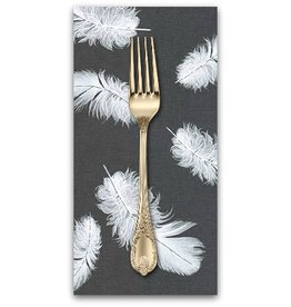 PD's Jennifer Sampou Collection Black and White Collection, Feathers in Jet, Dinner Napkin