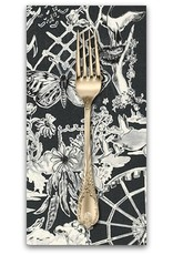 PD's Jennifer Sampou Collection Black and White Collection, Toile in Charcoal, Dinner Napkin