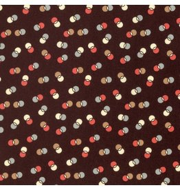 Denyse Schmidt Winter Walk, Dot Duet in Bark, Fabric Half-Yards