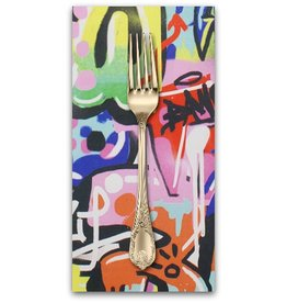 PD's Alexander Henry Collection Heartbeat, Tag You're It in Bright Multi, Dinner Napkin