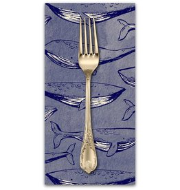 PD's Cotton + Steel Collection S.S. Bluebird, Fred & Carrie in Navy, Dinner Napkin
