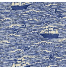 Cotton + Steel S.S. Bluebird, Out to Sea in Blue, Fabric Half-Yards