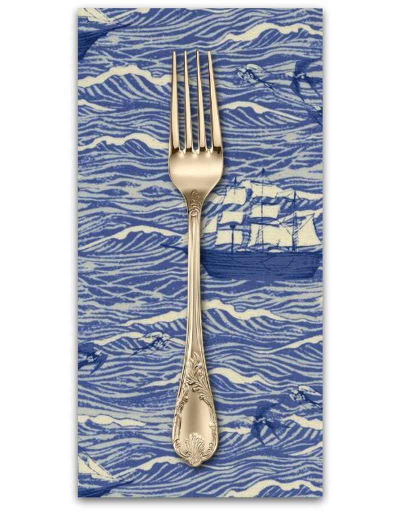 PD's Cotton + Steel Collection S.S. Bluebird, Out to Sea in Blue, Dinner Napkin