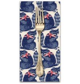 PD's Cotton + Steel Collection S.S. Bluebird, Snacks in Navy, Dinner Napkin