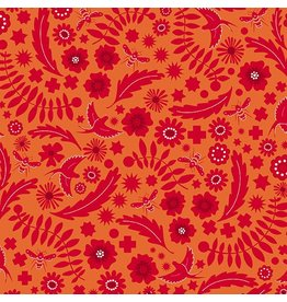 Alison Glass Sun Print 2017, Meadow in Spice, Fabric Half-Yards