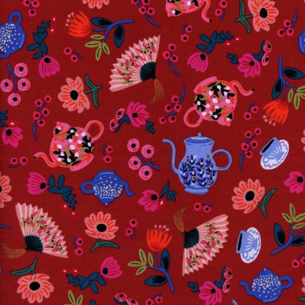 Rifle Paper Co. Wonderland, Garden Party in Crimson, Fabric Half-Yards