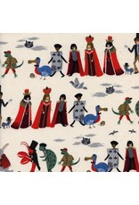 Rifle Paper Co. Wonderland, Procession in Neutral, Fabric Half-Yards