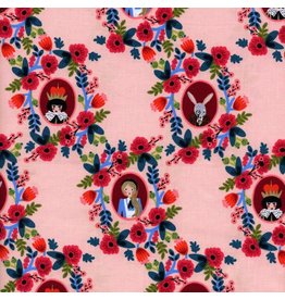 Rifle Paper Co. Wonderland, Cameos in Rose, Fabric Half-Yards