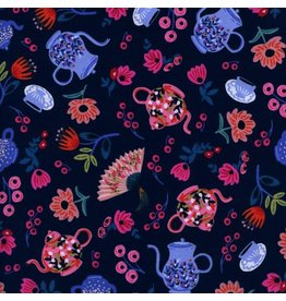 Rifle Paper Co. Wonderland, Garden Party in Navy, Fabric Half-Yards