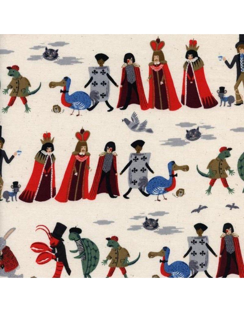PD's Rifle Paper Co Collection Wonderland, Procession in Neutral, Dinner Napkin