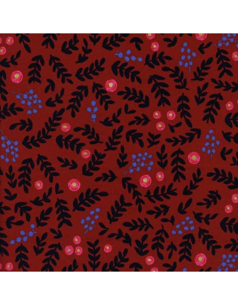 PD's Rifle Paper Co Collection Wonderland, Rose Garden in Crimson with Metallic, Dinner Napkin