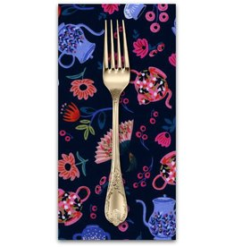 PD's Rifle Paper Co Collection Wonderland, Garden Party in Navy, Dinner Napkin