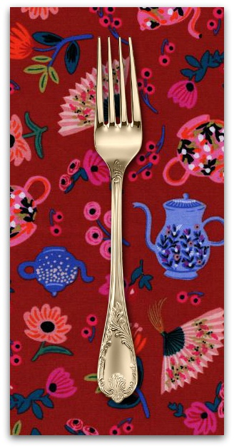 PD's Rifle Paper Co Collection Wonderland, Garden Party in Crimson, Dinner Napkin