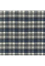 Robert Kaufman Yarn Dyed Cotton Flannel, Mammoth Flannel in Ash, Fabric Half-Yards