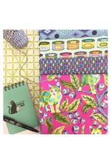 Tula Pink Tabby Road, Cat Eyes in Blue Bird, Fabric Half-Yards