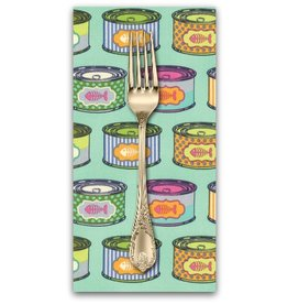PD's Tula Pink Collection Tabby Road, Cat Snacks in Blue Bird, Dinner Napkin