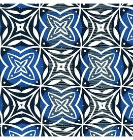 Valori Wells Marks, Imprint in Indigo, Fabric Half-Yards