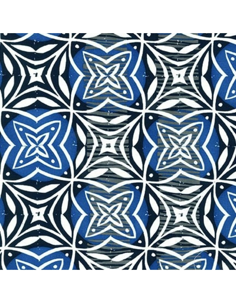 Valori Wells Marks, Imprint in Indigo, Fabric Half-Yards