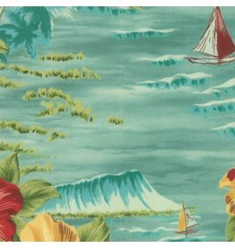 Moda Collections Sunshine, Ocean in Caribbean, Fabric Half-Yards