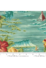 Moda Collections Sunshine, Ocean in Caribbean, Fabric Half-Yards