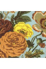 Philip Jacobs Kaffe Collective Spring 2017, Summer Bouquet in Brown, Fabric Half-Yards