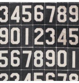 Tim Holtz Dapper, Numbers in Black, Fabric Half-Yards