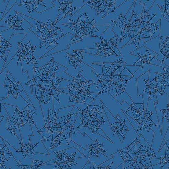Libs Elliott Tattooed, Quantum in Blue, Fabric Half-Yards