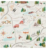 Alexander Henry Fabrics Christmas Time, Sugar Mountain Trail in Natural, Fabric Half-Yards