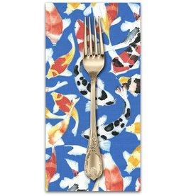 PD's Laura Gunn Collection Koi Garden, Koi Dance in Blue, Dinner Napkin