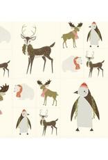 "Moda Merrily, Panel in Snow, Fabric 36"" Panel"