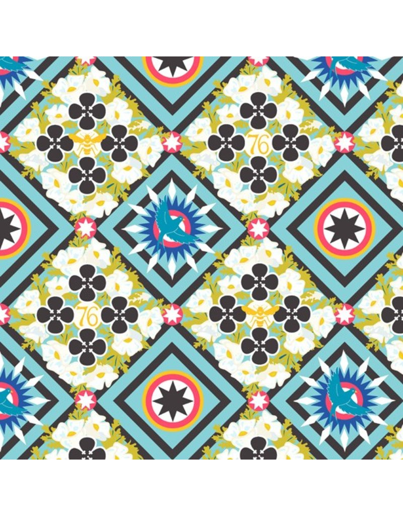 PD's Alison Glass Collection Seventy Six, Renewal in Liberty, Dinner Napkin