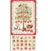 "Andover Fabrics Traditional Metallic Christmas, Advent Calendar in Multi, 24"" Fabric Panel"