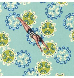TokyoMilk Neptune and the Mermaid, Song of the Siren in Aqua, Fabric Half-Yards