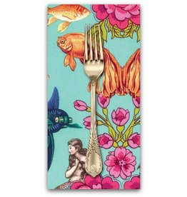 PD's TokyoMilk Collection Neptune and the Mermaid, Lost Atlantis in Aqua, Dinner Napkin