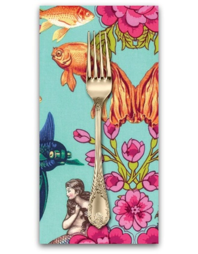 PD's TokyoMilk Collection Neptune and the Mermaid, Lost Atlantis in Aqua, Dinner Napkin