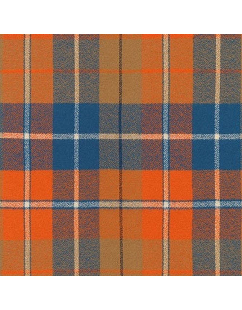 Robert Kaufman Yarn Dyed Cotton Flannel, Mammoth Flannel in Adventure comfy, Fabric Half-Yards