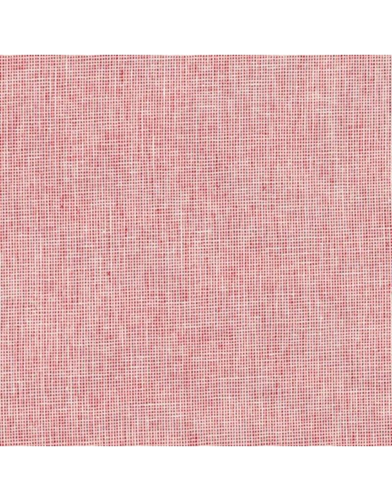 Robert Kaufman Linen Essex Yarn Dyed Homespun in Scarlet, Fabric Half-Yards