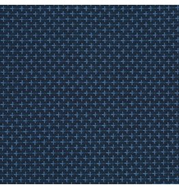 Robert Kaufman Indikon Yarn Dyed Woven, Crossed in Denim, Fabric Half-Yards