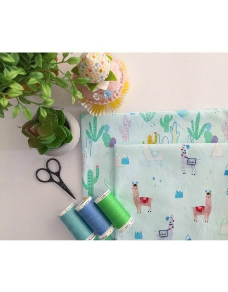 PD's Dear Stella Collection No Drama llama, Desert in Mist, Dinner Napkin