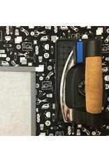 Studio E Small Talk, Sewing Notions in Black, Fabric Half-Yards